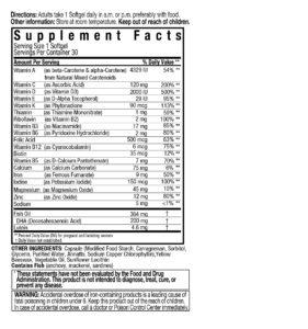 postnatal vitamin + DHA