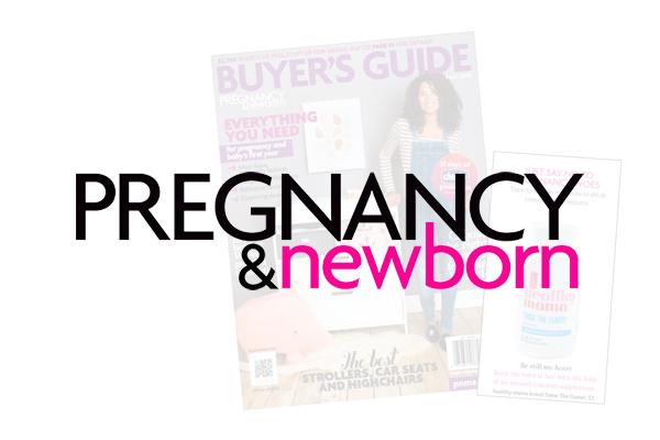 Pregnancy & newborn magazine covers.
